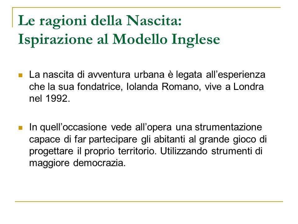 Le ragioni della Nascita: Ispirazione al Modello Inglese La nascita di avventura urbana è legata allesperienza che la sua fondatrice, Iolanda Romano,