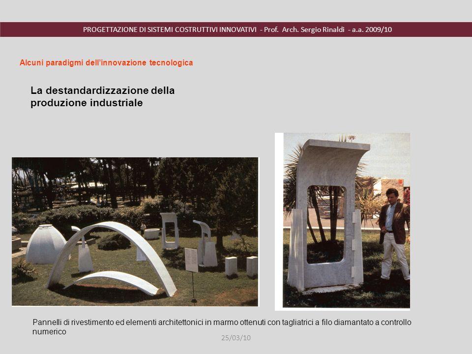 PROGETTAZIONE DI SISTEMI COSTRUTTIVI INNOVATIVI - Prof. Arch. Sergio Rinaldi - a.a. 2009/10 Pannelli di rivestimento ed elementi architettonici in mar