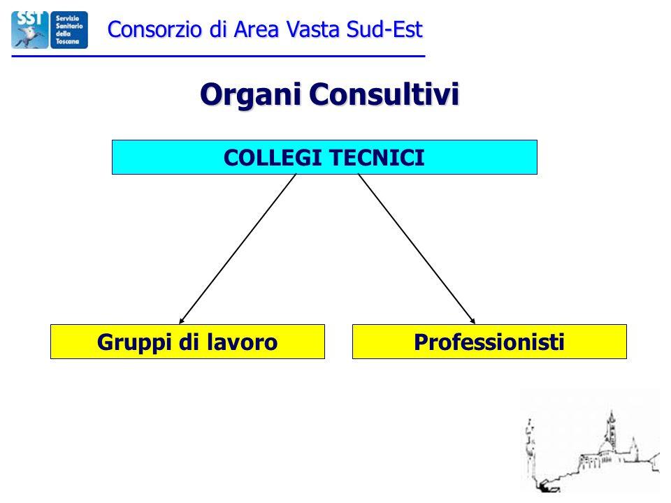 Consorzio di Area Vasta Sud-Est Organi Consultivi COLLEGI TECNICI Gruppi di lavoroProfessionisti