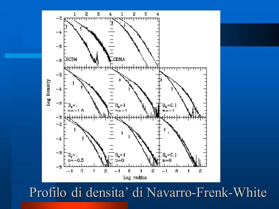 Profilo di densita di Navarro-Frenk-White