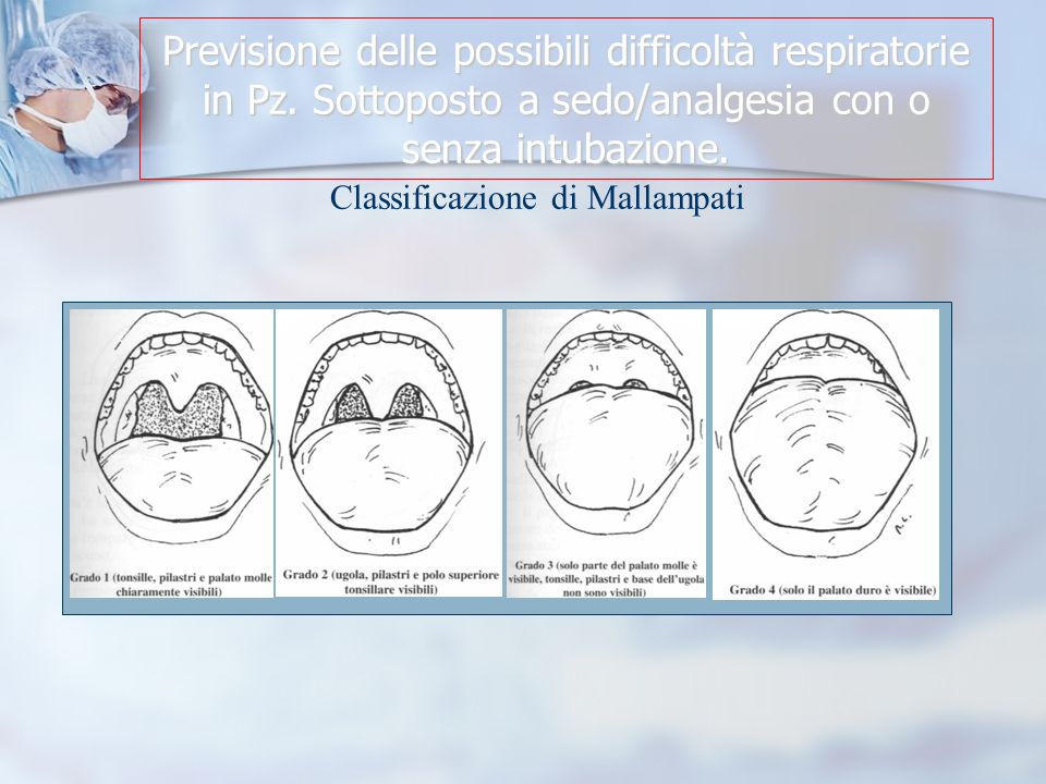 Previsione delle possibili difficoltà respiratorie in Pz.
