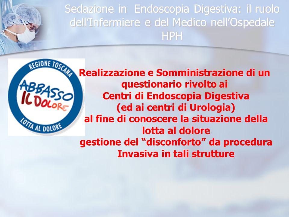 Sedazione in Endoscopia Digestiva: il ruolo dellInfermiere e del Medico nellOspedale HPH Proposta di Protocollo Condiviso per la effettuazione di Sedo/Analgesia, da parte di non anestesisti,in Pazienti sottoposti ad Endoscopia Digestiva ( o ad altra procedura invasiva )