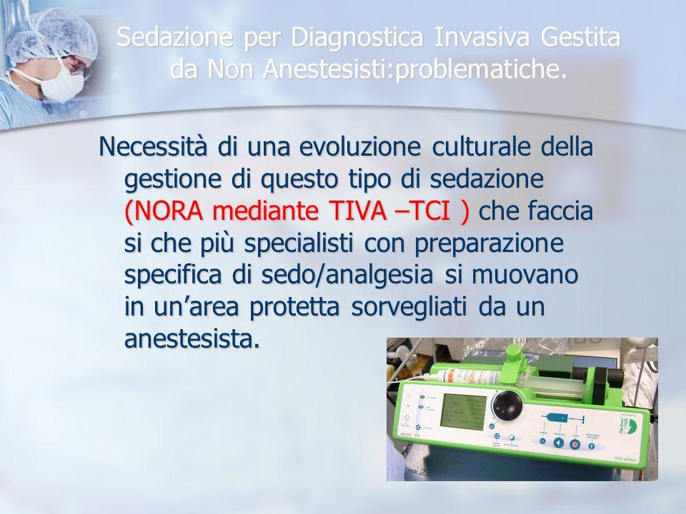 Sedazione per Diagnostica Invasiva Gestita da Non Anestesisti:problematiche.