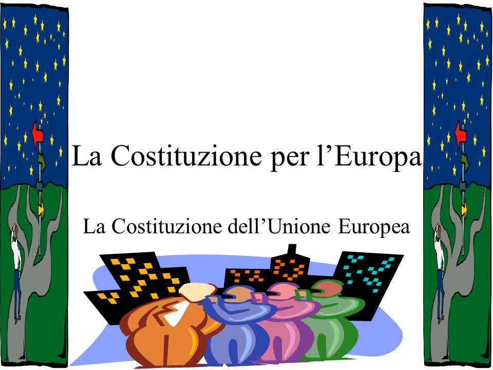 Il Trattato di Roma del 29 ottobre 2004 Il Trattato che adotta una Costituzione per lEuropa è stato firmato a Roma il 29 ottobre 2004 nella Sala degli Orazi e dei Curiazi, lo stesso luogo in cui, il 25 marzo 1957, venne firmato il trattato che istituì la Comunità europea.