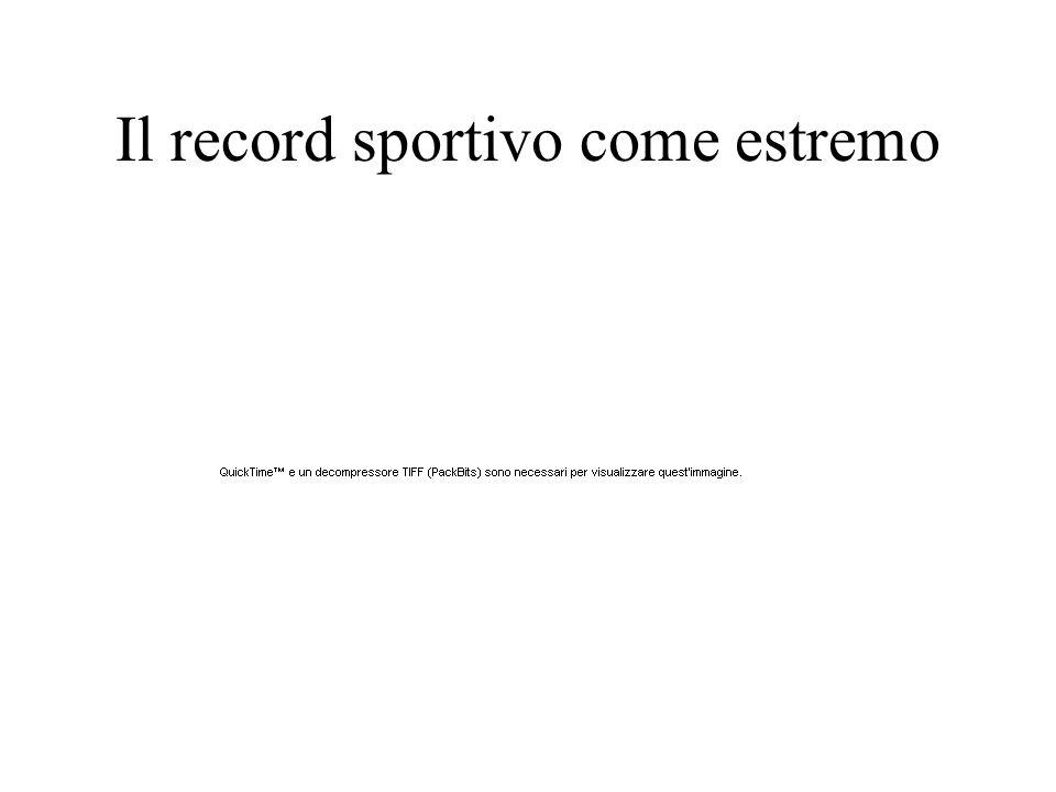 Il record sportivo come estremo