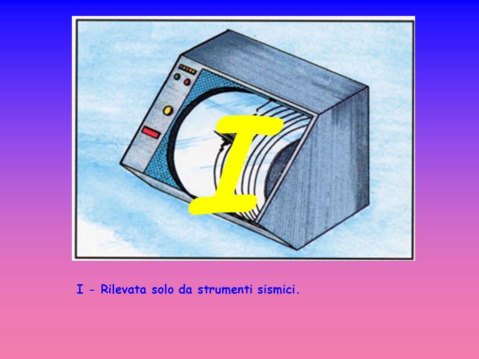 I - Rilevata solo da strumenti sismici. I