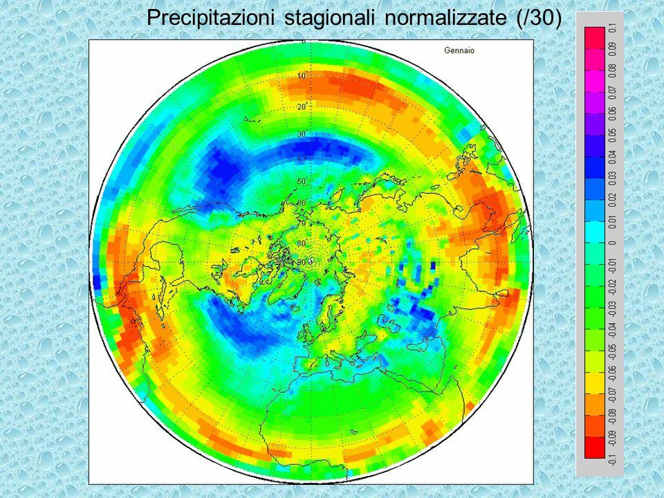 Precipitazioni stagionali normalizzate (/30)