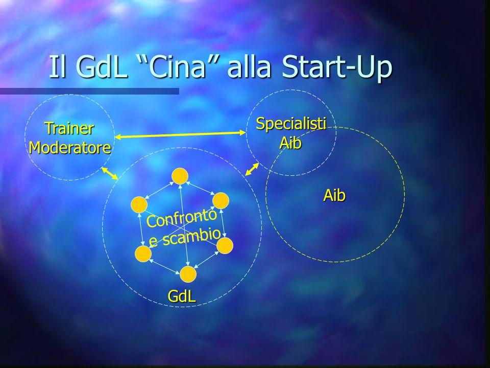 Il GdL Cina alla Start-Up GdL Confronto e scambio TrainerModeratore SpecialistiAib Aib