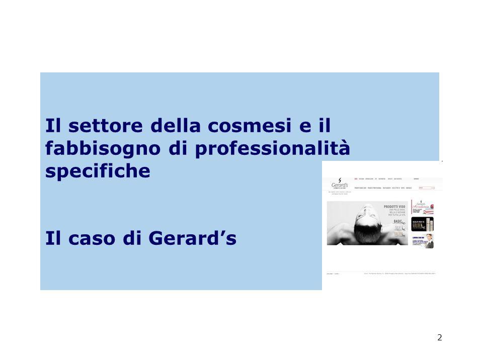2 Il settore della cosmesi e il fabbisogno di professionalità specifiche Il caso di Gerards