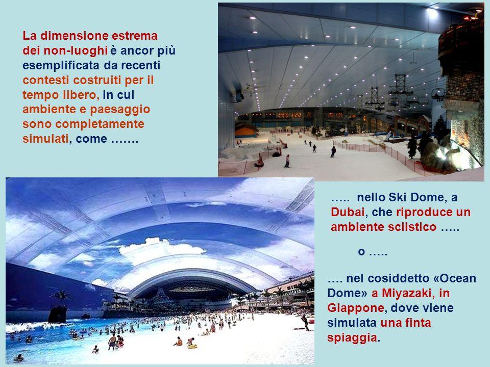 …. nel cosiddetto «Ocean Dome» a Miyazaki, in Giappone, dove viene simulata una finta spiaggia. ….. nello Ski Dome, a Dubai, che riproduce un ambiente