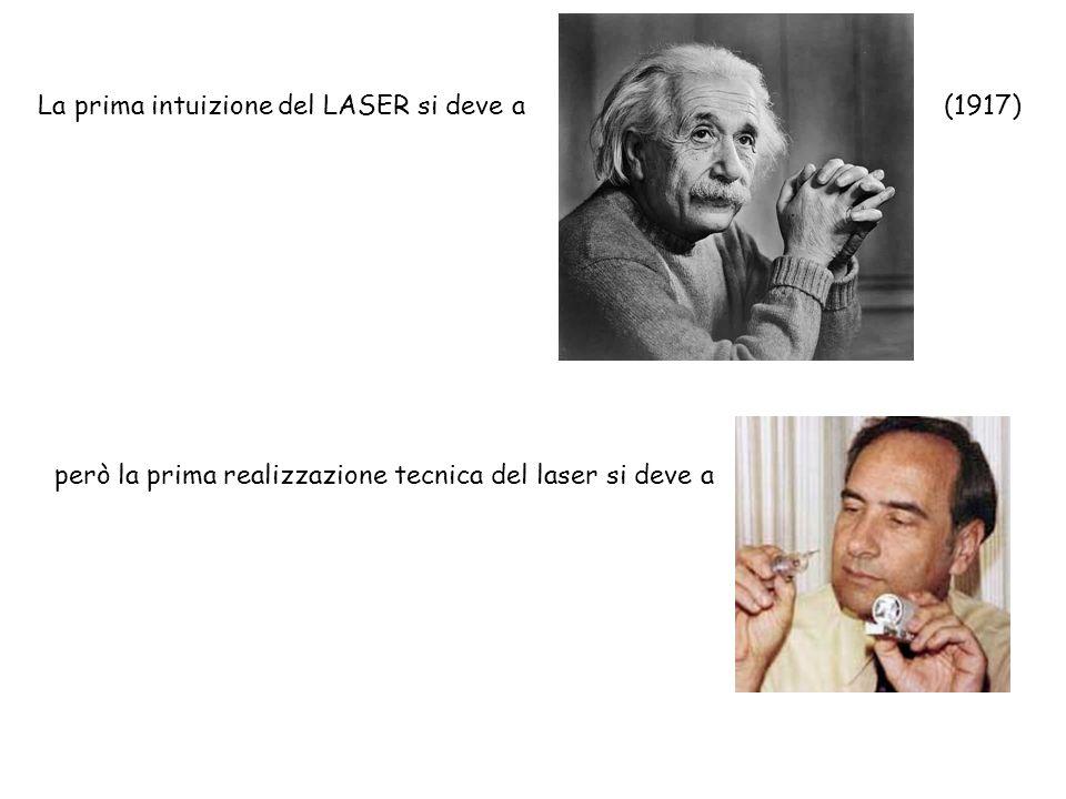 La prima intuizione del LASER si deve a(1917) però la prima realizzazione tecnica del laser si deve a (Theodore Maiman (1960))