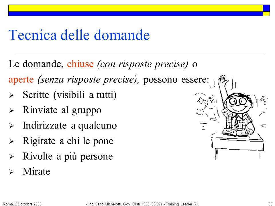 Roma, 23 ottobre 2006- ing.Carlo Michelotti, Gov.