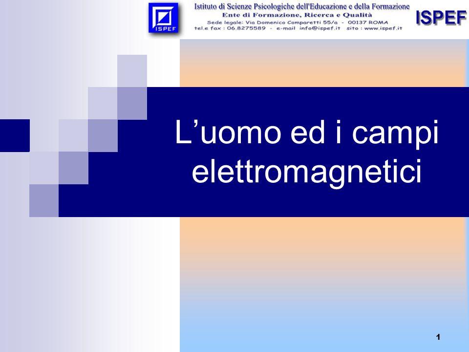 2 I campi elettromagnetici nellambiente Lambiente è caratterizzato da CAMPI ELETTROMAGNETICI che ne determinano la morfologia e la struttura: AMBIENTE CAMPI ELETTROMAGNETICI