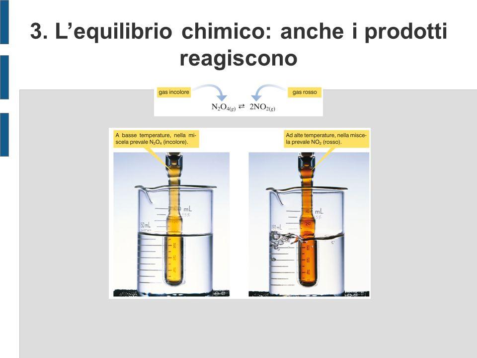 3. Lequilibrio chimico: anche i prodotti reagiscono