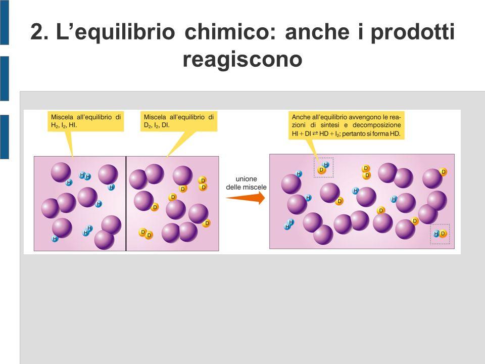 2. Lequilibrio chimico: anche i prodotti reagiscono