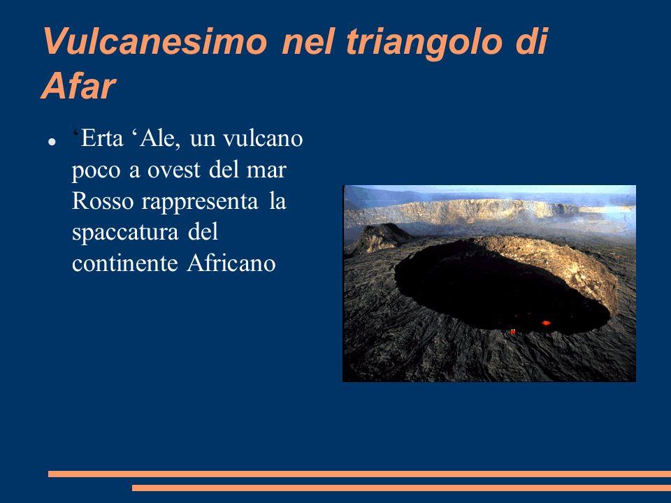 Vulcanesimo nel triangolo di Afar Erta Ale, un vulcano poco a ovest del mar Rosso rappresenta la spaccatura del continente Africano