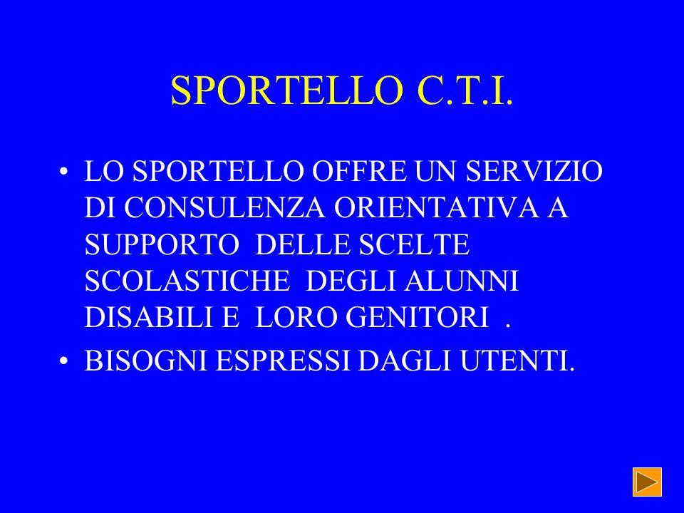 SPORTELLO C.T.I.