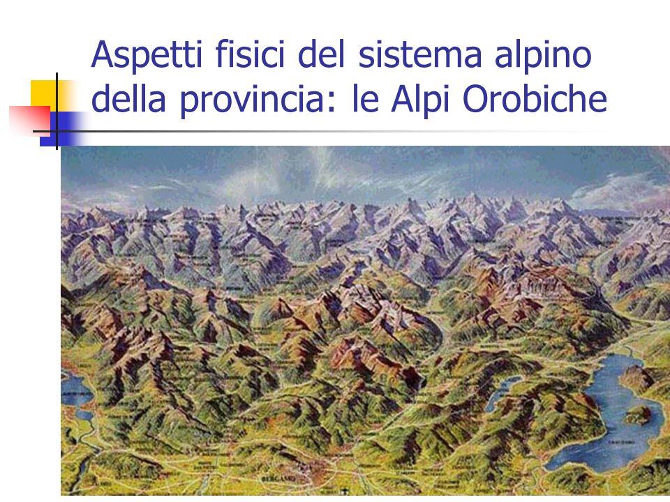 Aspetti fisici del sistema alpino della provincia: le Alpi Orobiche