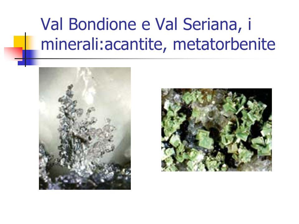 Val Bondione e Val Seriana, i minerali:acantite, metatorbenite