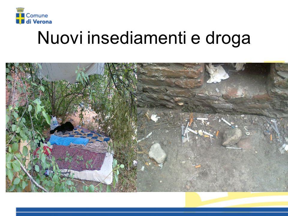 Nuovi insediamenti e droga