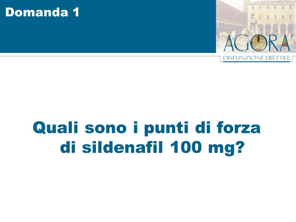 Domanda 1 Quali sono i punti di forza di sildenafil 100 mg