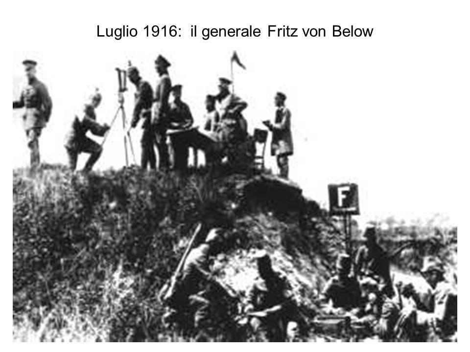 Luglio 1916: il generale Fritz von Below