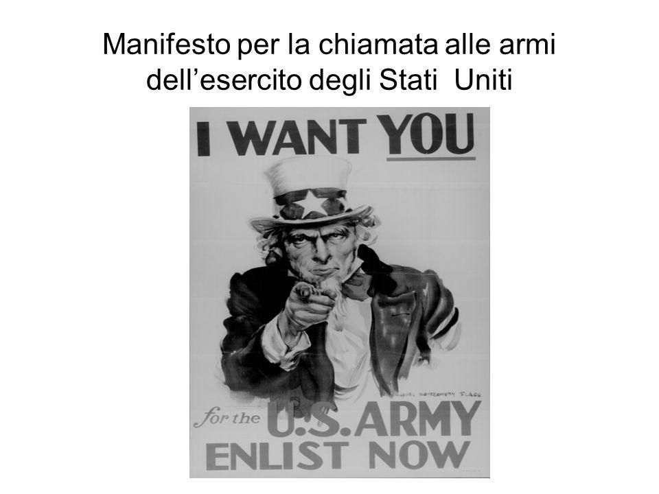 Manifesto per la chiamata alle armi dellesercito degli Stati Uniti
