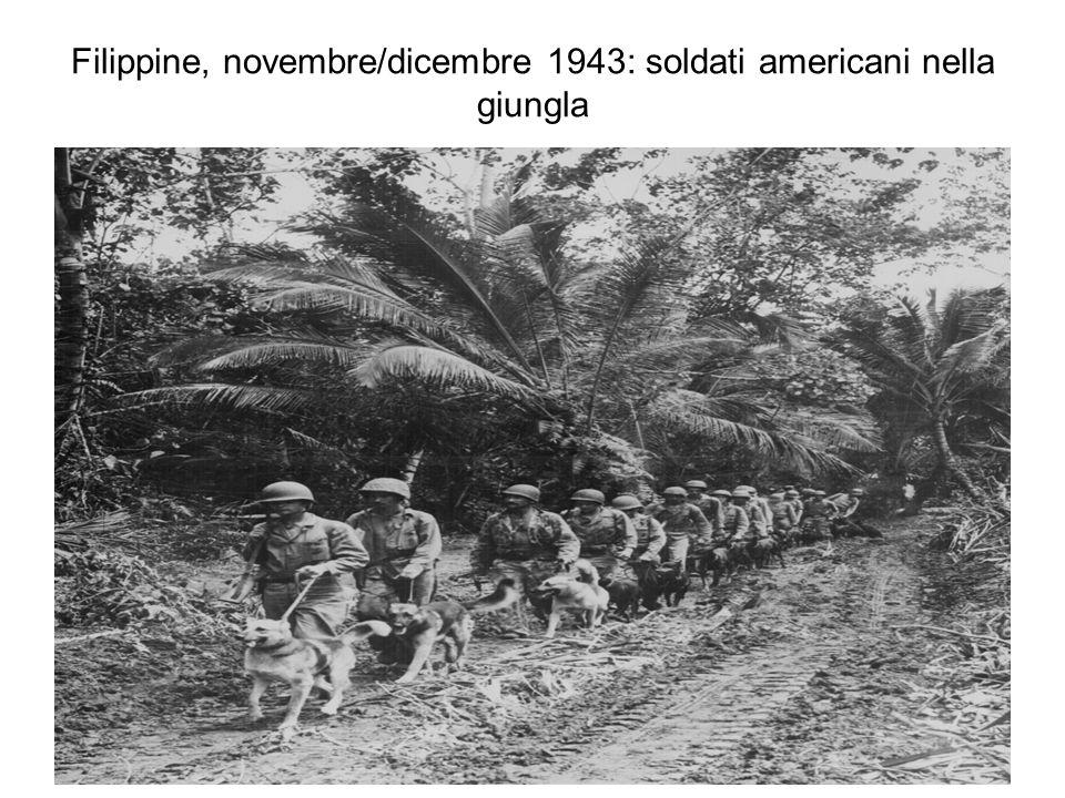 Filippine, novembre/dicembre 1943: soldati americani nella giungla