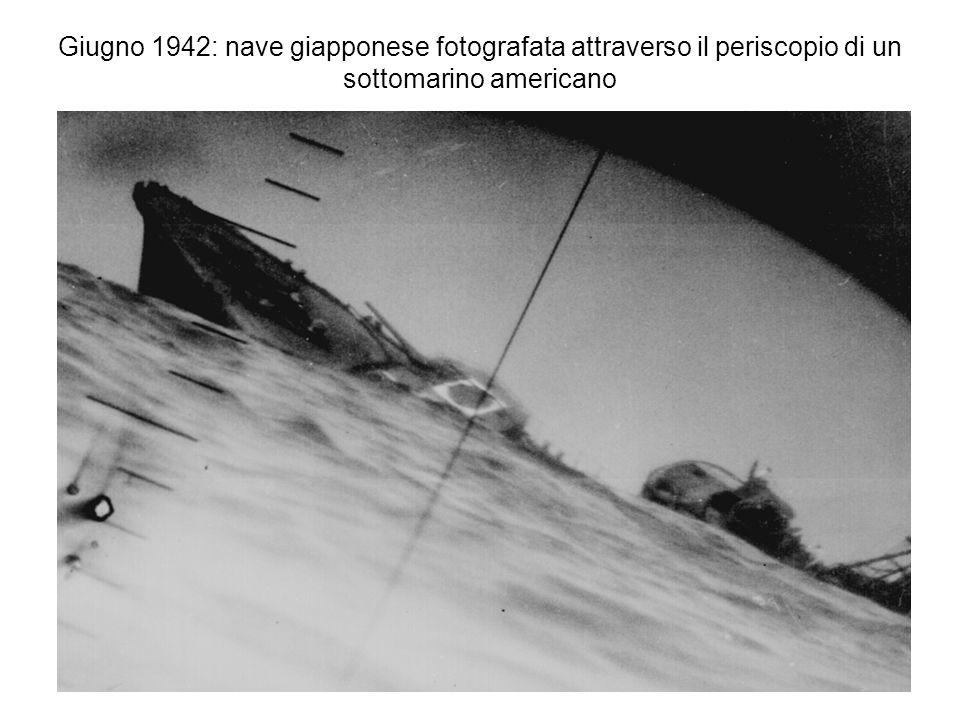 Giugno 1942: nave giapponese fotografata attraverso il periscopio di un sottomarino americano