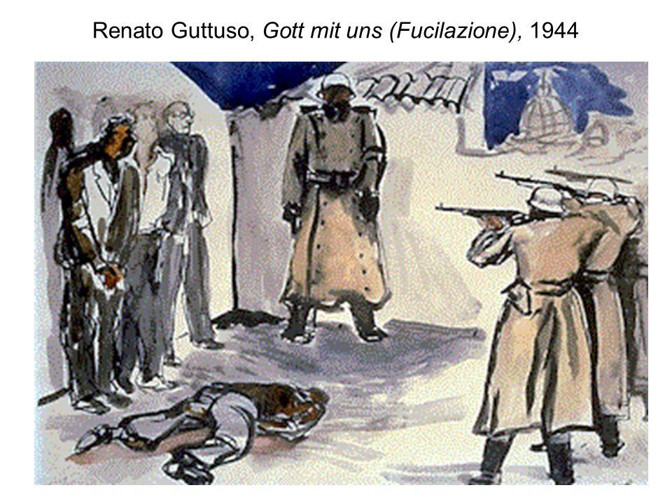 Renato Guttuso, Gott mit uns (Fucilazione), 1944
