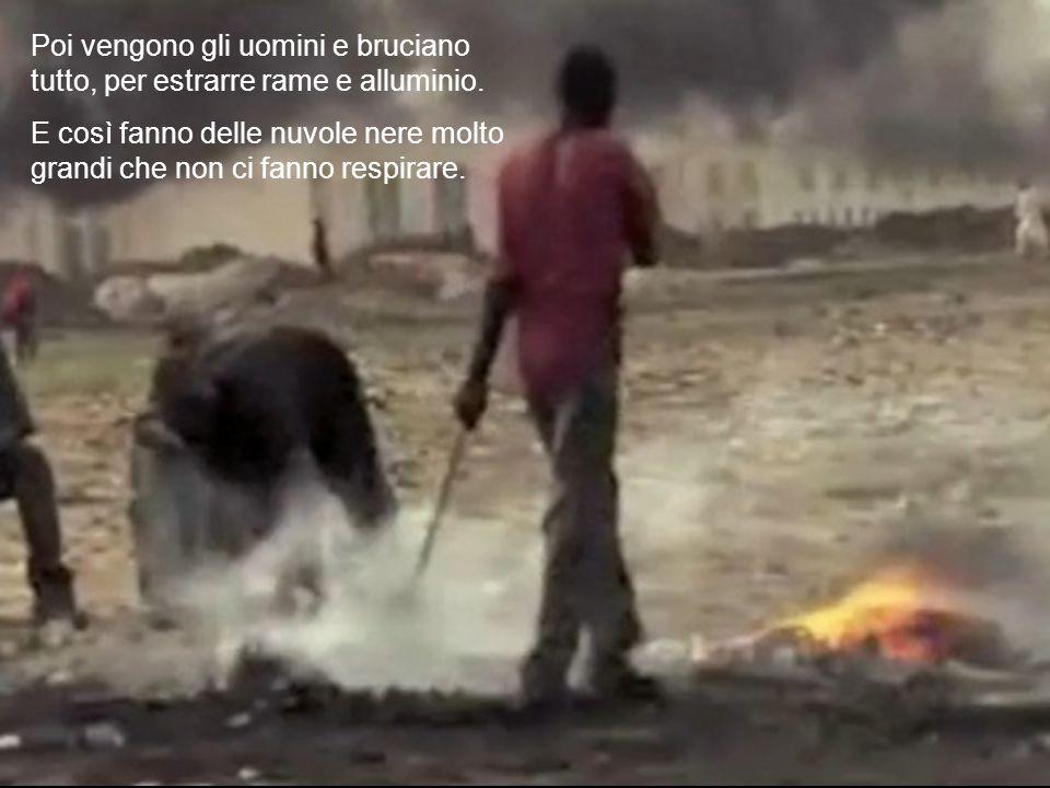 Poi vengono gli uomini e bruciano tutto, per estrarre rame e alluminio.