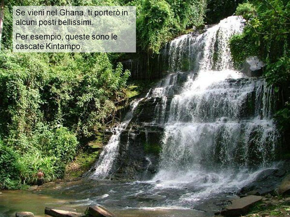 Se vieni nel Ghana, ti porterò in alcuni posti bellissimi. Per esempio, queste sono le cascate Kintampo.