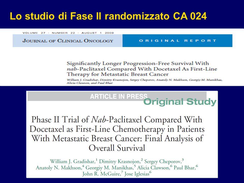 Lo studio di Fase II randomizzato CA 024