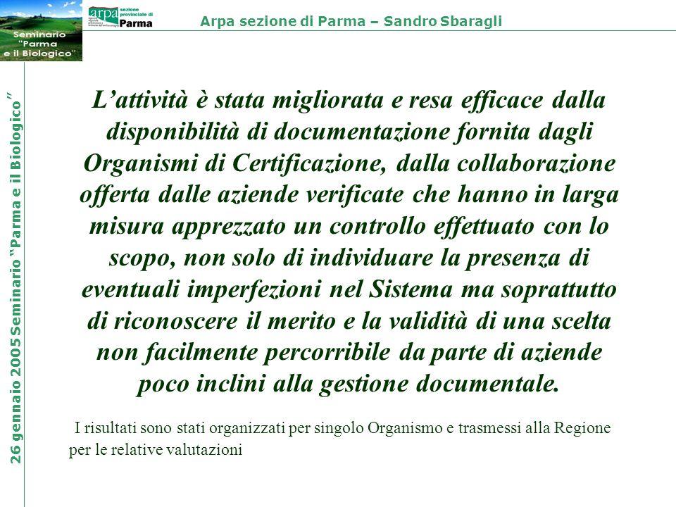 Lattività è stata migliorata e resa efficace dalla disponibilità di documentazione fornita dagli Organismi di Certificazione, dalla collaborazione off