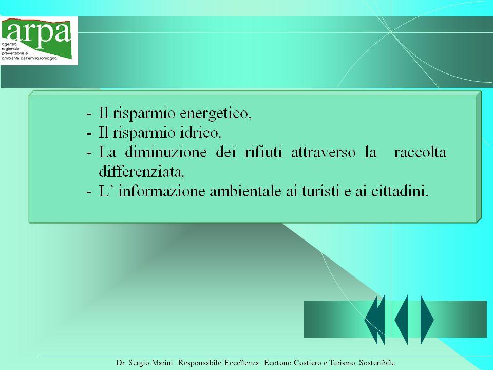 Dr. Sergio Marini Responsabile Eccellenza Ecotono Costiero e Turismo Sostenibile