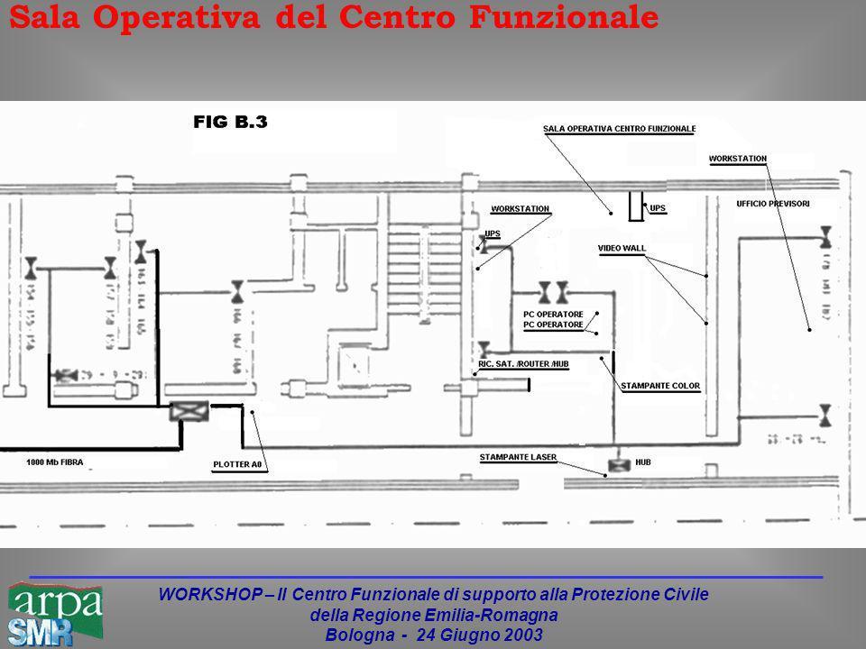 WORKSHOP – Il Centro Funzionale di supporto alla Protezione Civile della Regione Emilia-Romagna Bologna - 24 Giugno 2003 Sala Operativa del Centro Funzionale