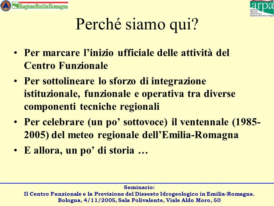 Seminario: Il Centro Funzionale e la Previsione del Dissesto Idrogeologico in Emilia-Romagna.