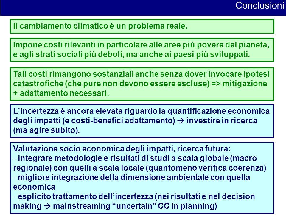 19 Conclusioni Il cambiamento climatico è un problema reale.