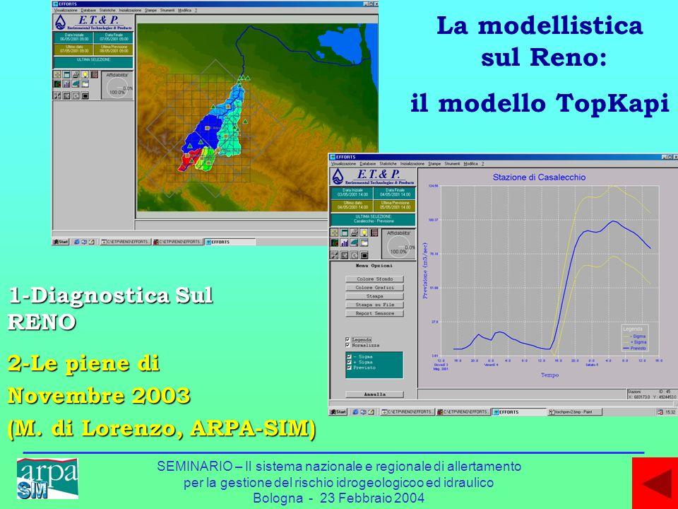 SEMINARIO – Il sistema nazionale e regionale di allertamento per la gestione del rischio idrogeologicoo ed idraulico Bologna - 23 Febbraio 2004 1-Diag