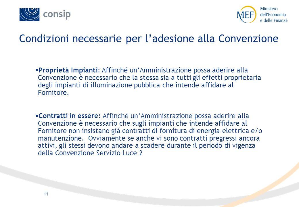 10 Lo sviluppo della Convenzione Servizio Luce si pone i seguenti obiettivi: Diffondere la cultura della gestione integrata del servizio di illuminazi