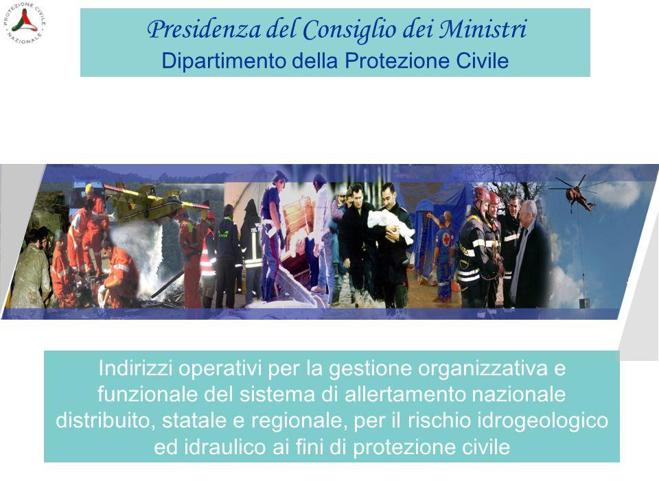 I FLUSSI E GLI AVVISI Gruppo Tecnico CNMCA Bollettino Meteo Scala Sinottica Regione o Provincia autonoma C.F.