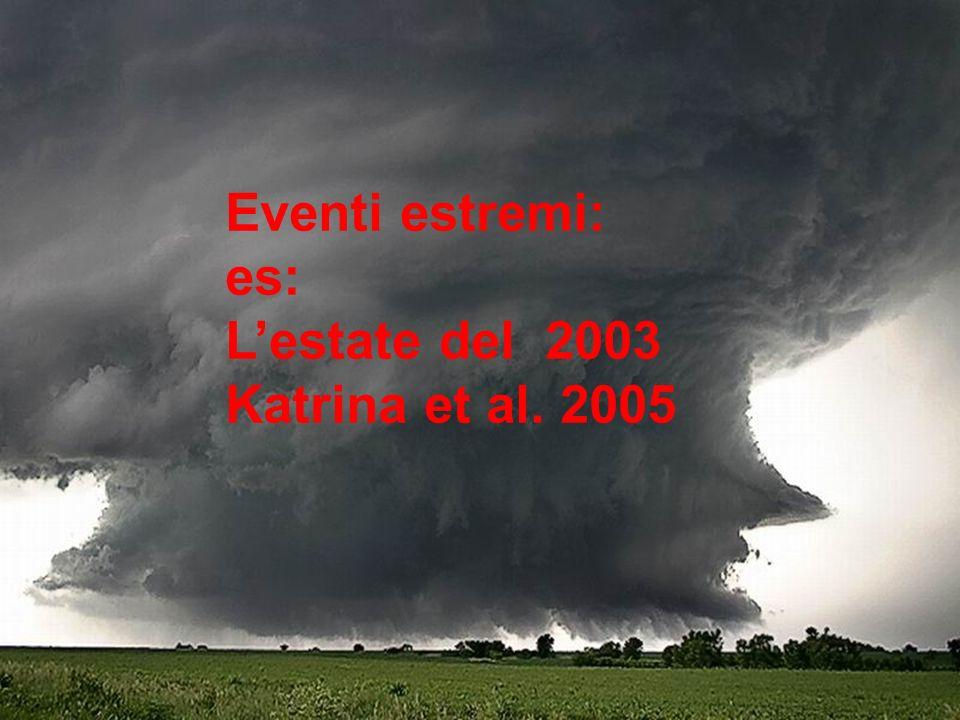Eventi estremi: es: Lestate del 2003 Katrina et al. 2005