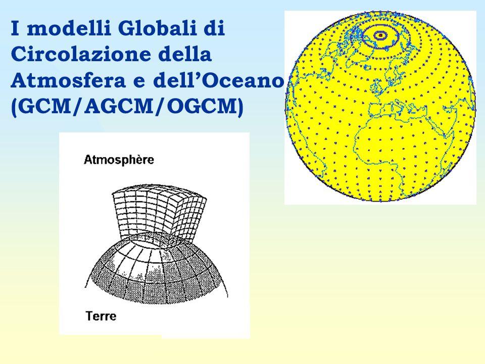 I modelli Globali di Circolazione della Atmosfera e dellOceano (GCM/AGCM/OGCM)