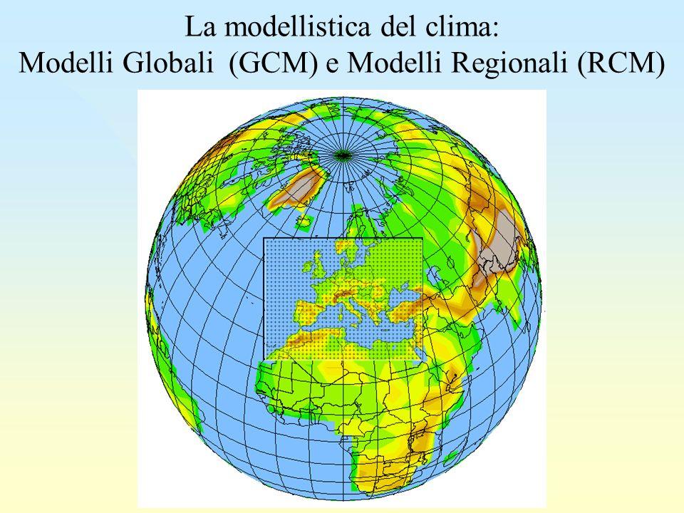 La modellistica del clima: Modelli Globali (GCM) e Modelli Regionali (RCM)