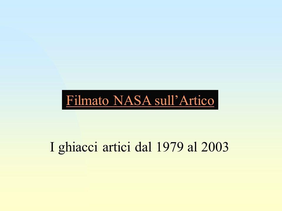 Filmato NASA sullArtico I ghiacci artici dal 1979 al 2003