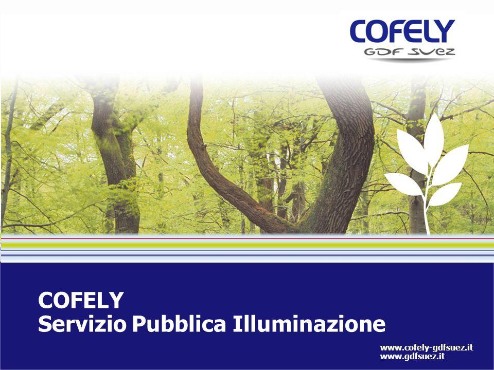 COFELY Servizio Pubblica Illuminazione www.cofely-gdfsuez.it www.gdfsuez.it