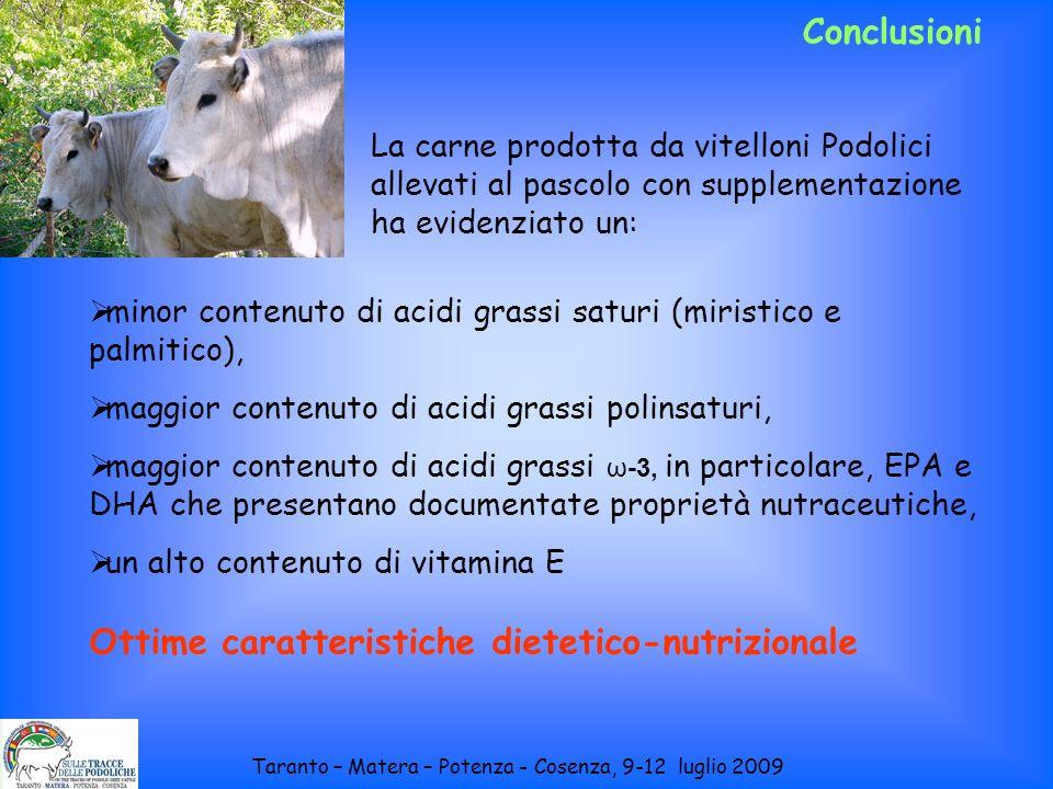 Conclusioni minor contenuto di acidi grassi saturi (miristico e palmitico), maggior contenuto di acidi grassi polinsaturi, maggior contenuto di acidi