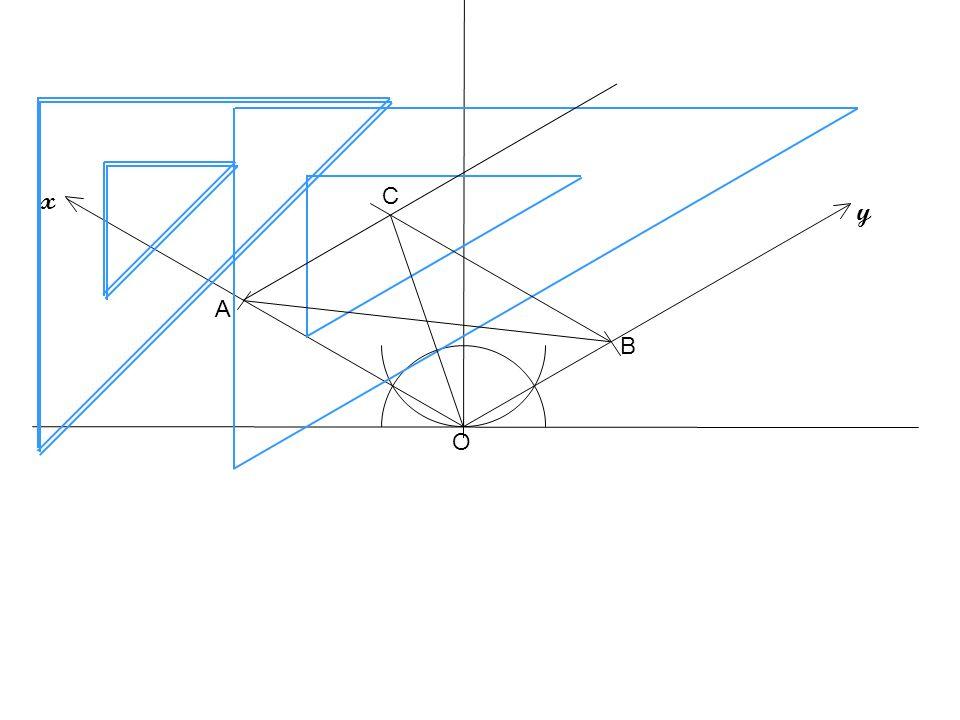 1cm 1 Apertura a piacere O z 2 y x Assonometria cavaliera di una piramide a base rettangolare 1cm Lunghezza OA = 5 cm; Larghezza = 3 cm; Altezza h = 10 cm Assi assonometria cavaliera A B LE MISURE DELLA LARGHEZZA (SULLASSE y) SI RIPORTANO RIDOTTE DELLA META; dunque il punto B si trova a 1,5 cm dallorigine O