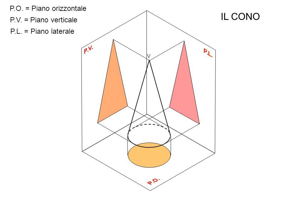 P.O.P.V. P.L. Proiezione ortogonale di un cono sospeso sul P.O.