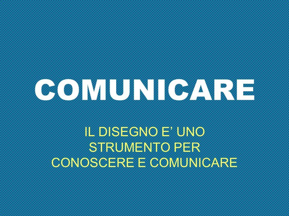 COMUNICARE IL DISEGNO E UNO STRUMENTO PER CONOSCERE E COMUNICARE